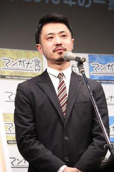 「響 ~小説家になる方法~」担当編集者の待永倫氏。