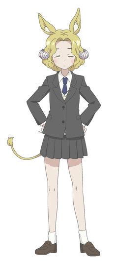 角人の少女・名楽羌子(CV:白石晴香)。