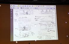 永井聡監督が描いた絵コンテ。