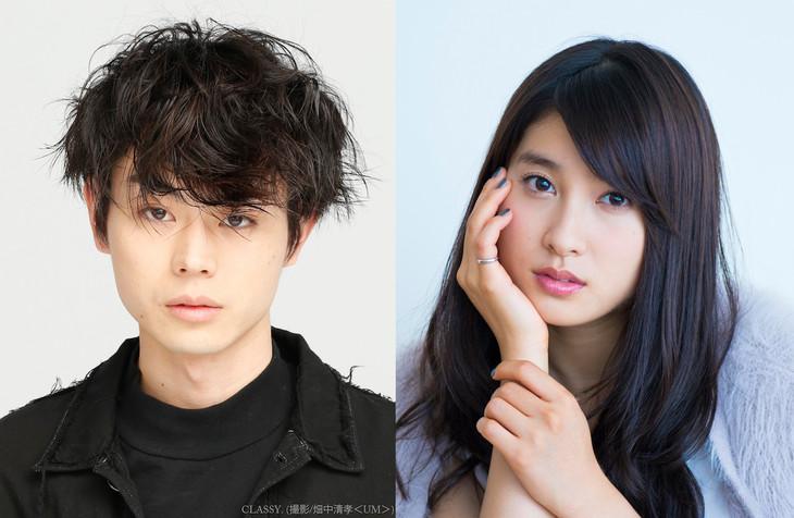 映画「となりの怪物くん」の出演キャスト。左から吉田春役の菅田将暉、水谷雫役の土屋太鳳。