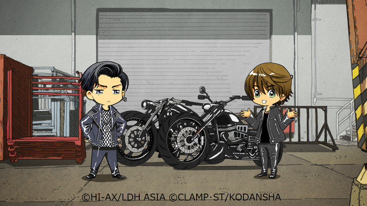 CLAMP「HiGH&LOW g-sword」のフラッシュアニメ。