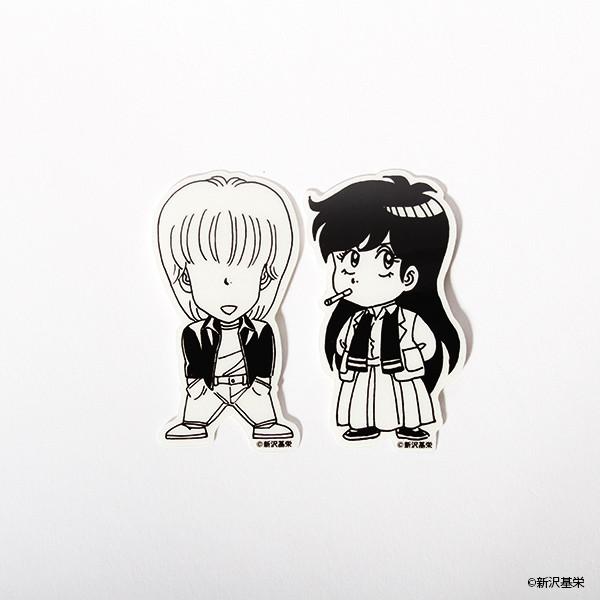 「ハイスクール!奇面組 2頭身キャラステッカー」(似蛭田妖、天野邪子)
