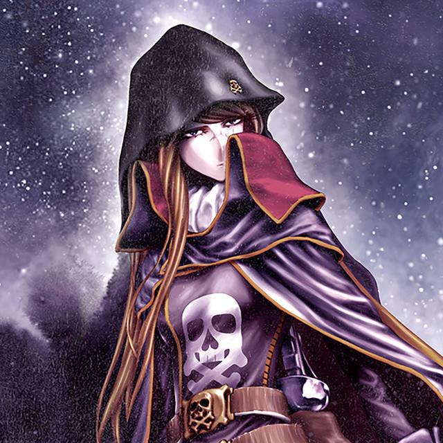 チャンピオンRED7月号にセンターカラーで掲載された「キャプテンハーロック~次元航海~」の扉ページより。