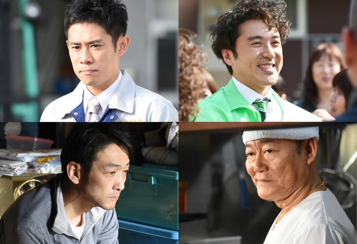 左上から時計回りに伊藤淳史、ムロツヨシ、國村隼、吹越満。