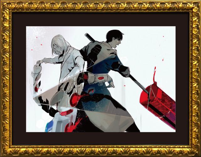 「『東京喰種』Twitter画展」で展示される「原作画」。