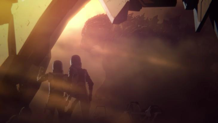 「GODZILLA 怪獣惑星」特報映像より。