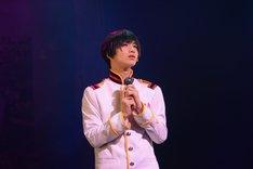 ミュージカル「ヘタリア~in the new world~」ゲネプロより、植田圭輔演じる日本。