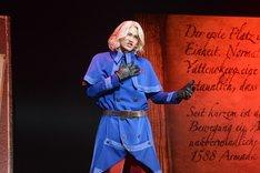 ミュージカル「ヘタリア~in the new world~」ゲネプロより、寿里演じるフランス。