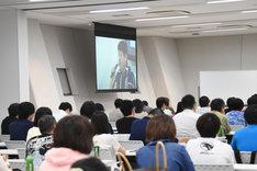 長崎尚志による講座「本気でマンガ原作者を目指してみないか?」の様子。