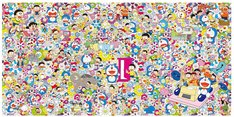 村上隆によるメインビジュアルおよび出展作品。 (c)2017 Takashi Murakami/Kaikai Kiki Co., Ltd. All Rights Reserved. (c)Fujiko-Pro