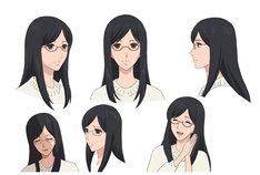 折笠富美子演じる青木春香。