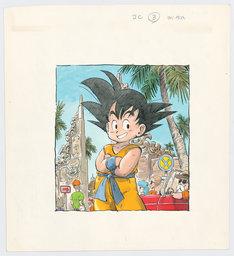 後期展示原画より、「DRAGON BALL」ジャンプコミックス第3巻カバー用イラスト。(c)鳥山明/集英社