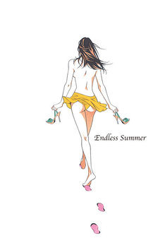 「上條淳士 原画展『SEX ~Endless Summer~ 後夜祭』」ビジュアル。