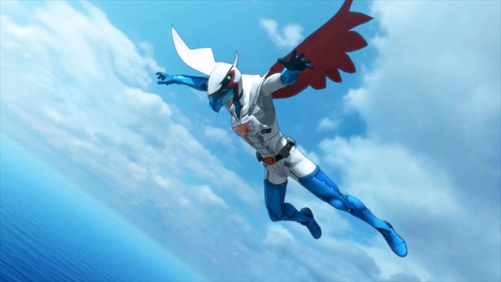 テレビアニメ「Infini-T Force」の場面写真。