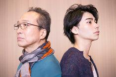 左から犬屋敷壱郎役の小日向文世、獅子神皓役の村上虹郎。