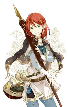 「赤髪の白雪姫」イラスト