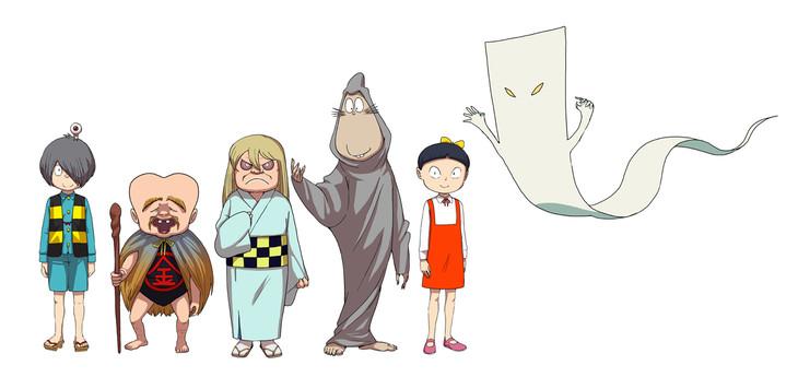 「ゲゲゲの鬼太郎」キャラクターのビジュアル。
