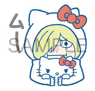 「ユーリ!!! on ICE×サンリオキャラクターズ」のLINEスタンプの1種。