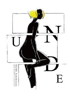 グループ展「NUDE」のDM。