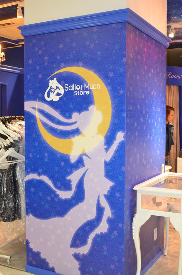 「Sailor Moon store」の店内。