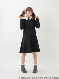 「NEW GAME!! 涼風青葉イメージワンピース」の着用イメージ。