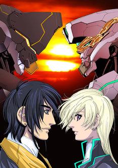 麻宮騎亜が手がけた「雷神八系-ZANAM- ファム・ファタール 運命の女」第2期のキービジュアル。