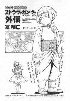 冨明仁「ストラヴァガンツァ~異彩の姫~外伝」の扉ページ。
