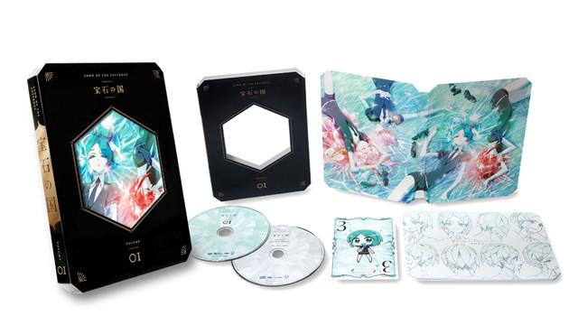 アニメ「宝石の国」のBlu-ray / DVD第1巻の展開図。