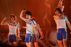 「舞台『弱虫ペダル』新インターハイ篇~ヒートアップ~」公開ゲネプロの様子。