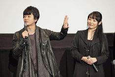 「コードギアス 反逆のルルーシュI 興道(こうどう)」初日舞台挨拶の様子。