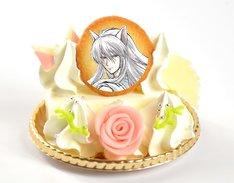 """「妖狐蔵馬の""""さあおしおきの時間だ オレを怒らせた罪は重い!!""""ケーキ(レアチーズケーキ)」"""