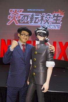 島本和彦と滝沢昇校長。