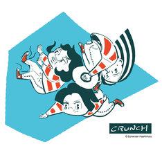 サレンダー橋本が描いたCRUNCHのイラスト。
