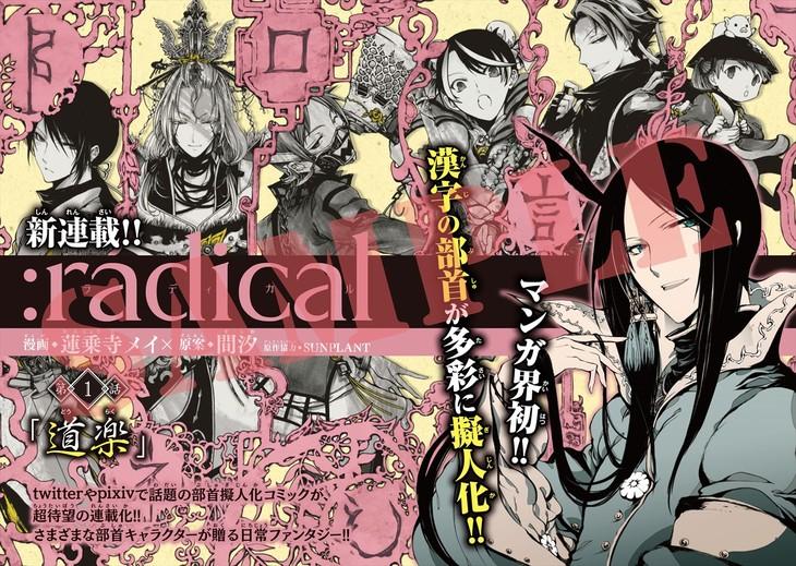 「:radical」の扉ページ。