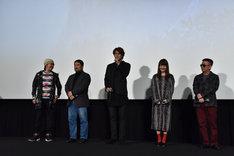 「GODZILLA 怪獣惑星」公開記念舞台挨拶の様子。