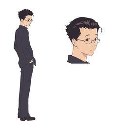 窪之内英策による、フグ田マスオのキャラクター設定画。
