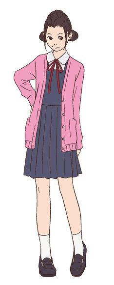 窪之内英策による、磯野サザエのキャラクター設定画。