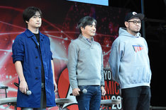 左から水崎淳平、中島かずき、岡崎能士。