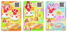 園内で配布される、オリジナル「アイカツ!カード」全3種。