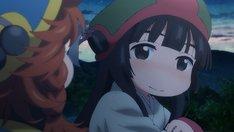 アニメ「ハクメイとミコチ」のカットより、ミコチ。