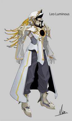 アニメ第2話に登場するジョシュアのACT・レオルミナス。キャラクターデザインは直良有祐は手がけた。