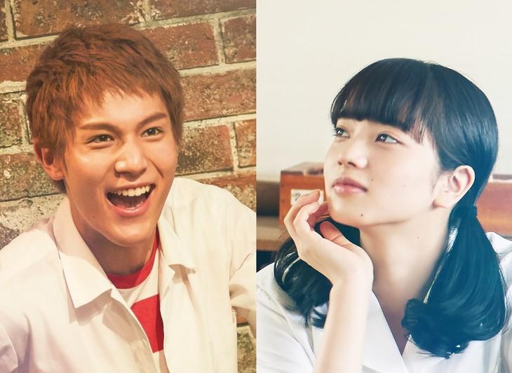 左から小松菜奈演じる迎律子、中川大志演じる川渕千太郎。本ビジュアルは、公式サイトにて確認しよう。