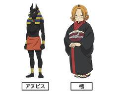 左からアヌビス(CV:谷山紀章)、樒(CV:坂本千夏)。