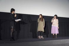 アニメ「劇場版 カードキャプターさくら 封印されたカード」リバイバル上映の舞台挨拶の様子。