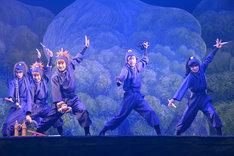 「ミュージカル『忍たま乱太郎』第9弾~忍術学園陥落!夢のまた夢!?~」公開ゲネプロより。