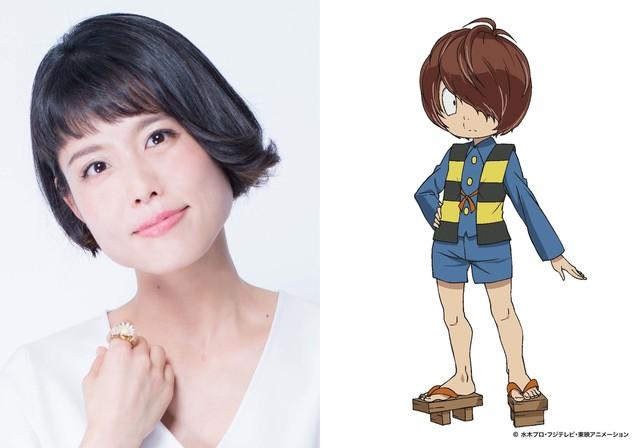左から沢城みゆき、鬼太郎のキャラクター設定画。