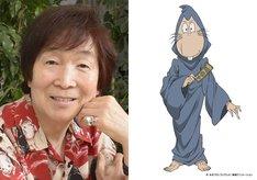 左から古川登志夫、ねずみ男のキャラクター設定画。