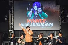 「『ヒプノシスマイク -Division Rap Meeting-』ニコ生公開生放送×CDリリース記念イベント」の様子。(Photo by 粂井健太)