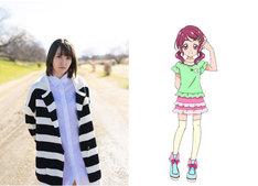 左から佐藤亜美菜、野乃ことりのキャラクター設定画。