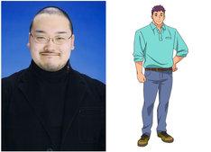 左から間宮康弘、野乃森太郎のキャラクター設定画。